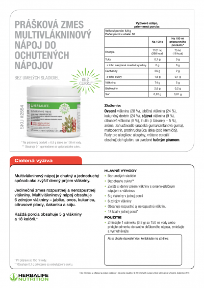Herbalife Multivláknina - popis