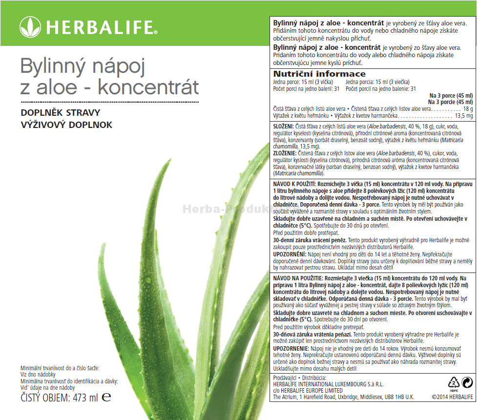 Herbal Aloe Mango koncentrát