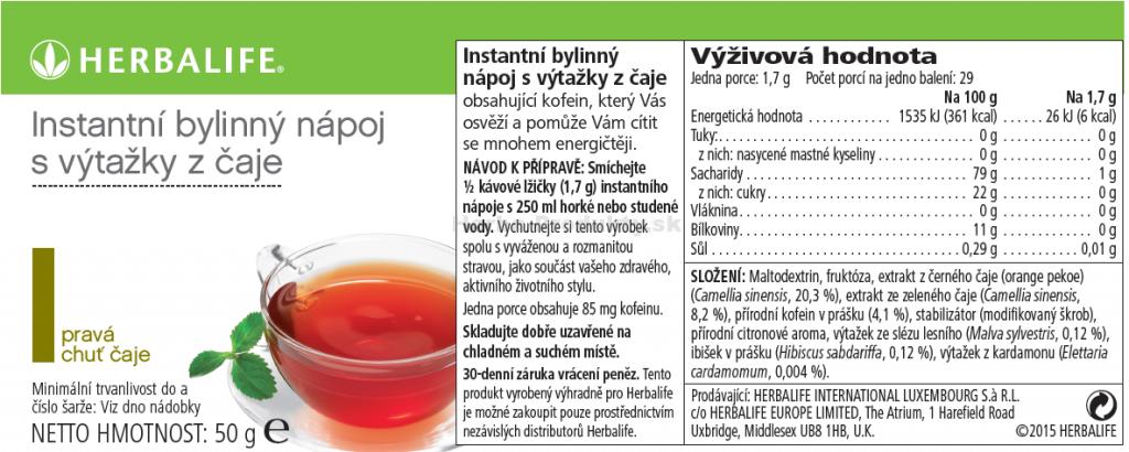Herbalife čaj Thermojetics Instatný bylinny napoj