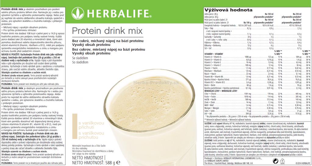SKU 2600 Protein drink mix