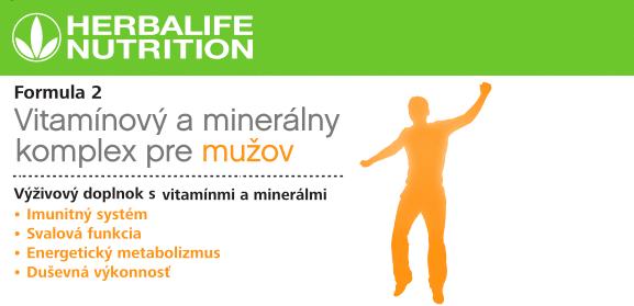 Formula 2 Vitaminovy a mineralny komplex pre muzov
