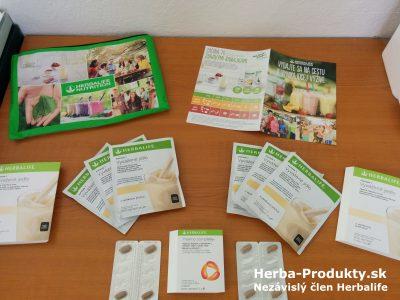 Rozbalený skúšobný balíček Herbalife