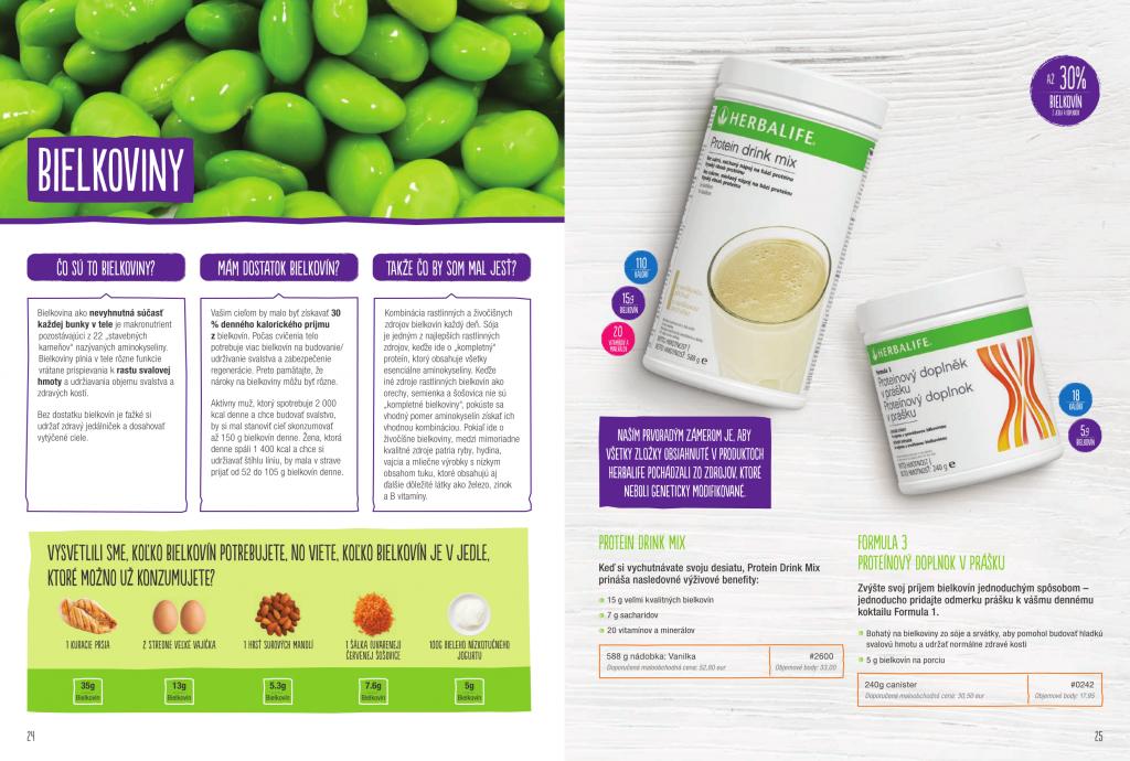 Herbalife bielkoviny -Proteínové doplnky