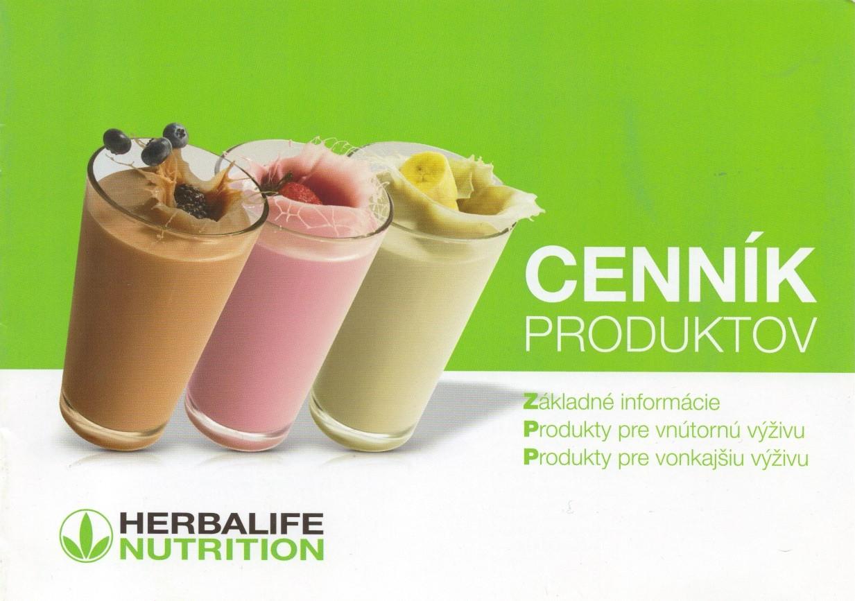 Herbalife Cena - Zákaznícky cenník produktov Herbalife
