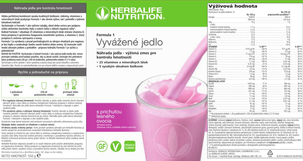 4470_Herbalife Formula 1 - Lesné ovocie - štítok