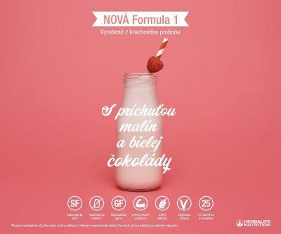 Herbalife Formula 1 Malina a biela cokolada (bez soje, laktozy a lepku) 4469
