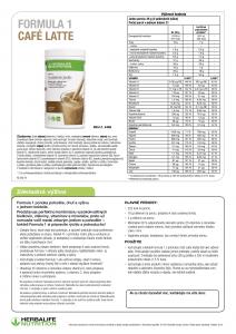 Herbalife Formula 1 - Cafe latte info leták