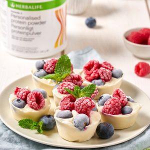 Proteínové ovocné jogurtové košíčky